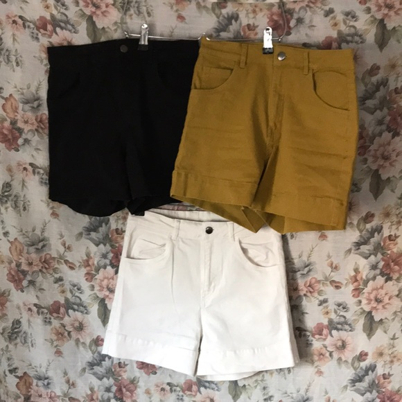 64ad91215088 H&M Shorts | Hm High Waist Twill Bundle | Poshmark